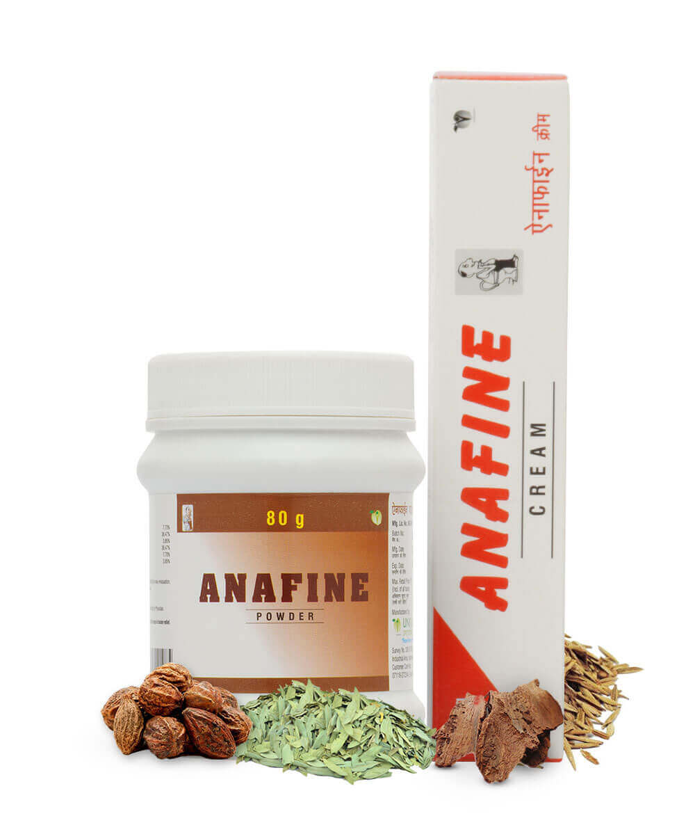 Anafine Powder and Anafine Cream (Pack of 2)