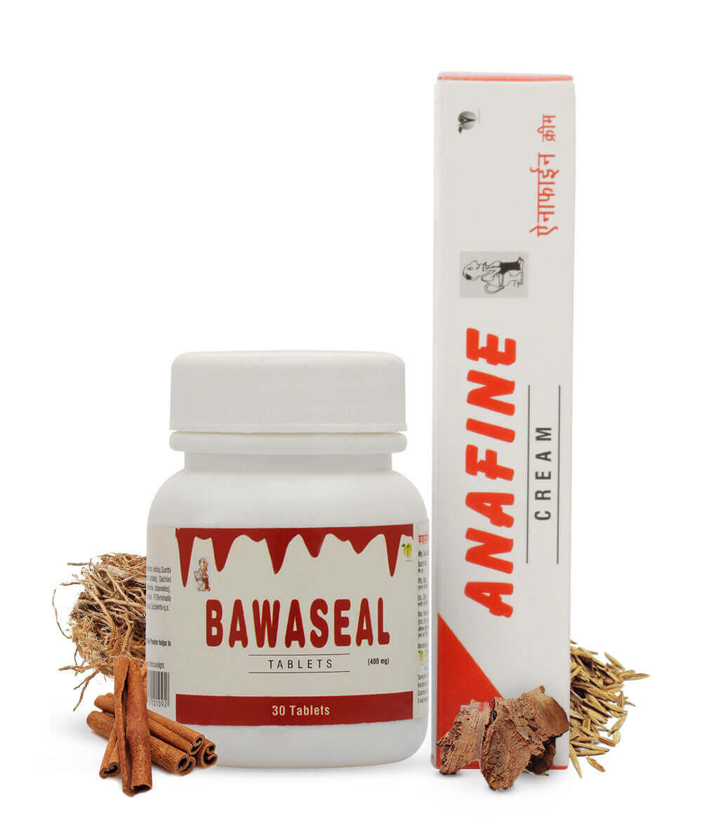 Anafine Cream and Bawaseal Tablet (Pack of 2)